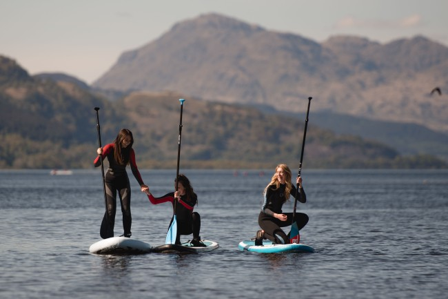 Paddle Boarding Loch Lomond
